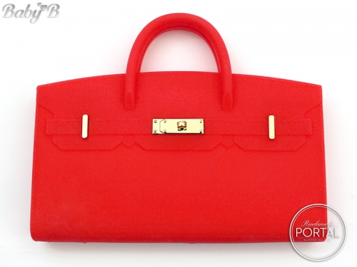 Baby B - Bright Red with Gold hardware