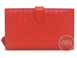 Bottega Veneta Continental Long Wallet - Blood in Nappa and  ...