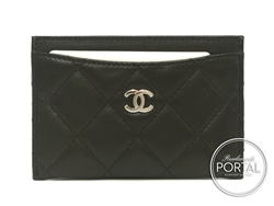 Chanel Cardholder - Classic Black with Silver hardware