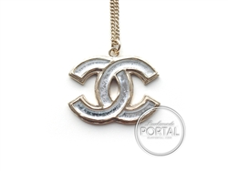 Chanel CC Light Gold with Matte Silver