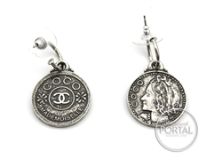 Chanel Vintage - Earrings - Boucles D'Oriel in Silver
