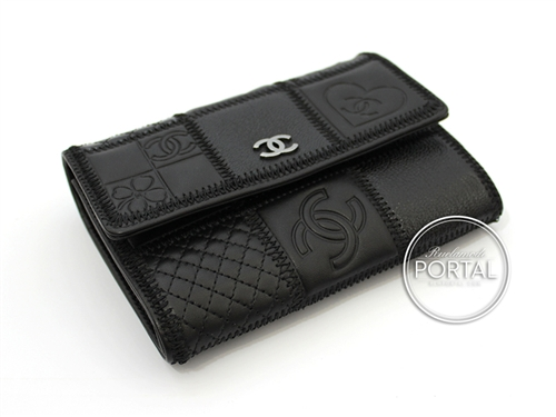 Chanel Vintage - Wallet - Porte Monnaie - Multi leather with Pattern and Rhodium CC