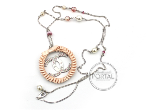 Chanel Vintage - Necklace - Ribbon Circle Necklace with Pearls