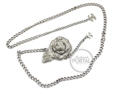 Chanel Vintage - Chanel Belt Chain - Silver Chain with Cryst ...