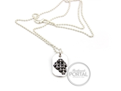 Chrome Hearts - Dogtag small Raise Cemetry with Ball Chain
