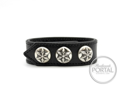 Chrome Hearts - C.H. Plus 3 Arrows Studs 2-Snap in Black