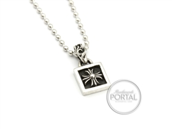 Chrome Hearts - Square Pendant with Ball Chain