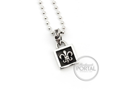 Chrome Hearts - Square Fleur Pendant with Ball Chain