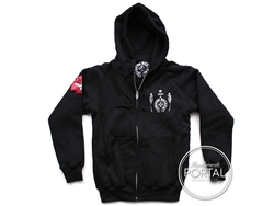 Chrome Hearts Foti Skull wings Thermal Lined - Zip up Hoodie ...