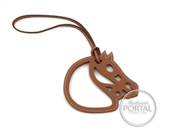 Hermes Bag Charm - Horse Cut-Out Leather Charm in Gold