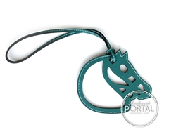Hermes Bag Charm - Horse Cut-Out Leather Charm in Malachite