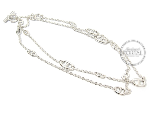 Hermes Necklace - Silver with 15pcs Farandole (120cm)