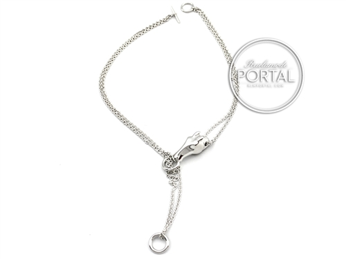 Hermes Necklace - Gallop Necklace in Silver MM