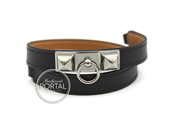 Hermes Rivale - Black in Swift with Palladium Hardware S