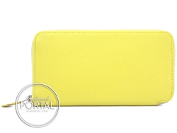 Hermes Silk-In Long Wallet - Souffre in Epsom with Yellow Si ...