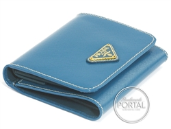 Prada Compact Wallet - Ottanio in Saffiano Vernic with Gold  ...
