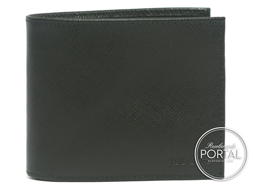 Prada Men's Wallet - Nero in Saffiano