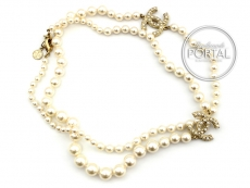 Chanel Necklace - Classic Pearl Necklace with 2 Pearl CC wit ...