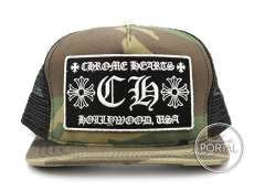 Chrome Hearts Trucker Cap with Snap Back Camouflage Hollywoo ...