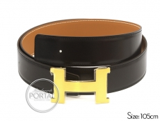 Hermes Belt - Black in Box and Gold in Swift with (X-Large)  ...