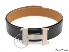 Hermes Belt - Black in Box and Gold in Swift with Brushed Pa ...