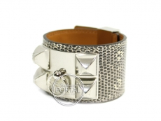 Hermes Collier De Chien - Ombre Lizard with Palladium Hardwa ...
