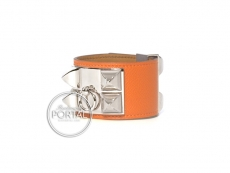 Hermes Collier De Chien - Orange in Epsom with Palladium Har ...