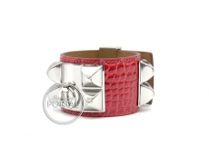 Hermes Collier De Chien - Bouganvillea in Alligator with Pal ...
