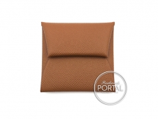 Hermes Bastia Coin Purse - Gold in Epsom