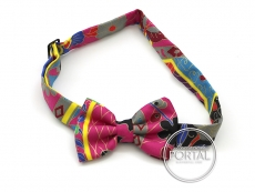 Hermes Mini Bow Tie - Papillon - Fuchsia / Blues / Grey