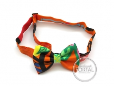 Hermes Mini Bow Tie - Papillon - Orange / Greens / Black