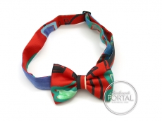 Hermes Mini Bow Tie - Papillon - Reds / Greens / Blues