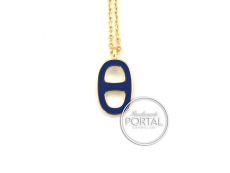 Hermes Lliade Necklace - Bleu Electric in Gold Hardware