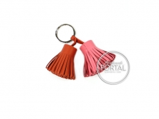Hermes Mini Twin Carmen Keyholder - Rose Azalee & Cornal
