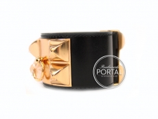 Hermes Collier De Chien - Black in Box with Rose Gold Hardwa ...