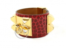 Hermes Collier De Chien - Braise in Alligator with Gold Hard ...