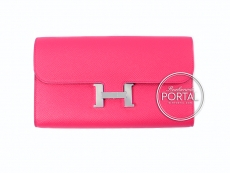 Hermes Constance Long Wallet - Rose Extreme in Epsom and Swi ...