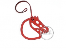 Hermes Bag Charm - Horse Cut-Out Leather Charm in Brique