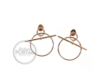 Hermes Rose Gold Earrings - Boutons De Oreilles CA Loop PM
