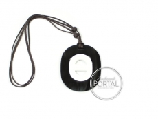 Hermes Necklace -  Black Horn Necklace