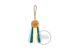Hermes Bag Charm - Paddock Flot Vache Hunter in Craie / Mala ...