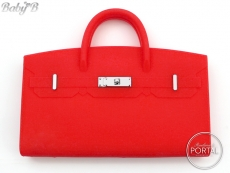 Baby B - Bright Red with Silver hardware
